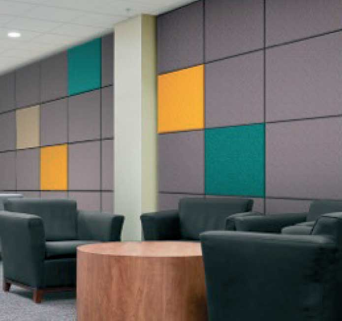 Modern accoustic panels to match office decor