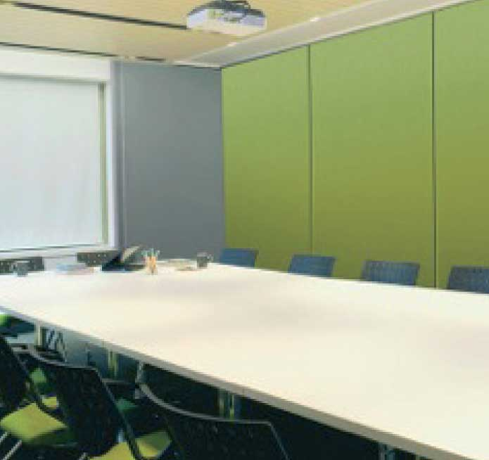 Sound absorbing accoustic panels